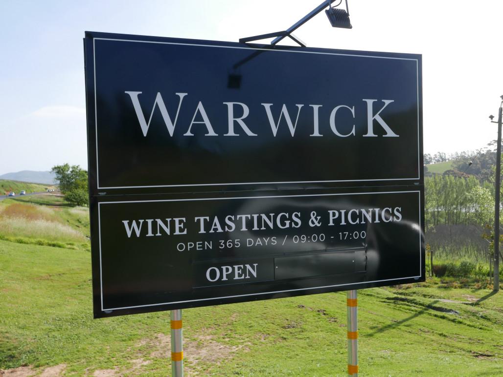 Warwick wijnen bestellen