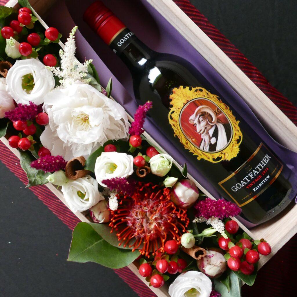 wijn voor moederdag kopen in leuven - the goatfather Fairview - lekkere rode wijn