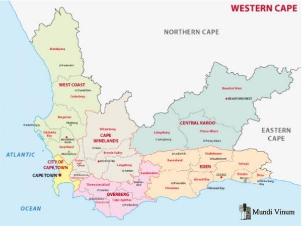 Wijngebieden in Zuid-Afrika